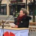 Annika Onttonen talade om rättigheter för arbetare