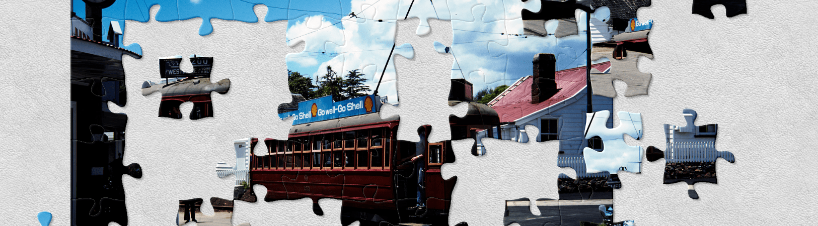 jigsaw puzzle on tram