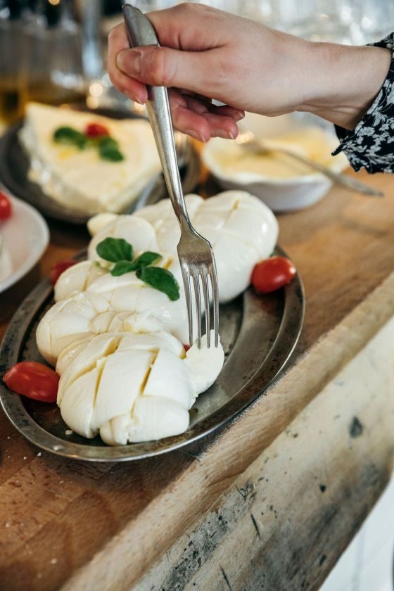 fresh buratta at mother brunch