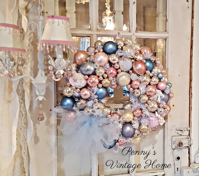 Vintage Ornament Christmas Wreath from Penny's Vintage Home