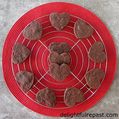 Chocolate Shortbread Hearts from Delightful Repast