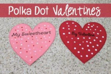 Polka Dot Valentines from Grandma Ideas