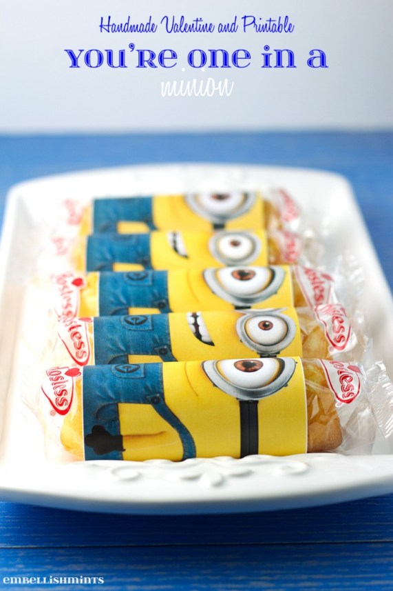 You're One In a Minion Printable from Embellishmints