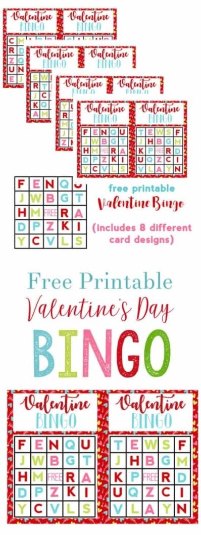 Valentine's Day Alphabet Bingo from Burlap and Blue