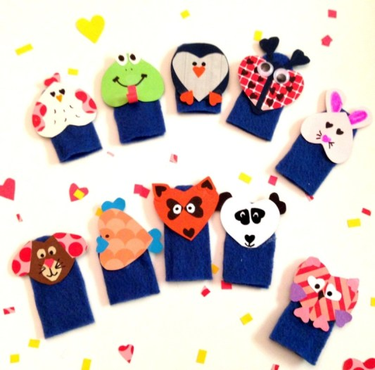 Week 161 DIY Valentine's Day Finger Puppets from Just Measuring Up