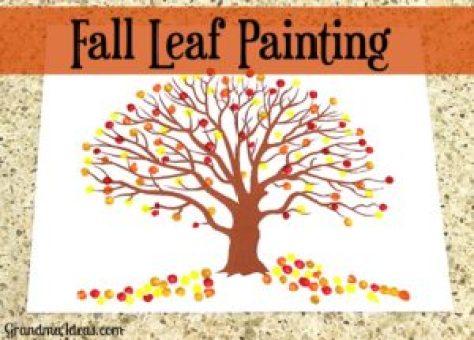 Week 190 - Fall Leaf Painting from Grandma's Ideas