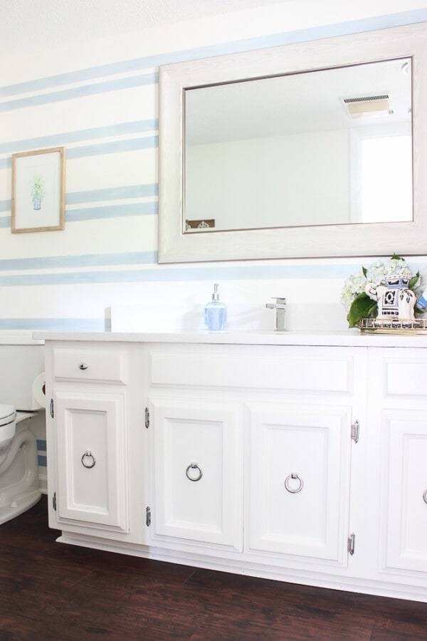 Week 190 - Blue and White Bathroom Makeover from Rain on a Tin Roof