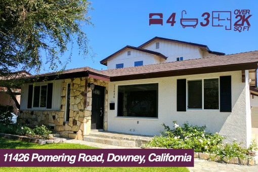 SOLD! 11426 Pomering Road, Downey, California | 4 BED | 3 BATH | 2 CAR GARAGE
