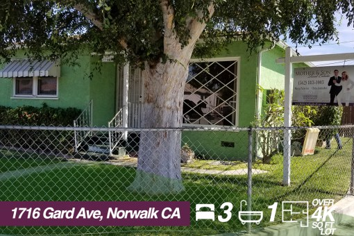 SOLD! 11716 Gard Ave, Norwalk California | 3 BED | 1 BATH | +4K SQ FT LOT