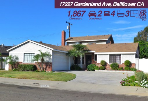 17227 Gardenland Ave, Bellflower CA | 4 BED | 3 BATH | 2 CAR GARAGE | +6K SQ FT LOT