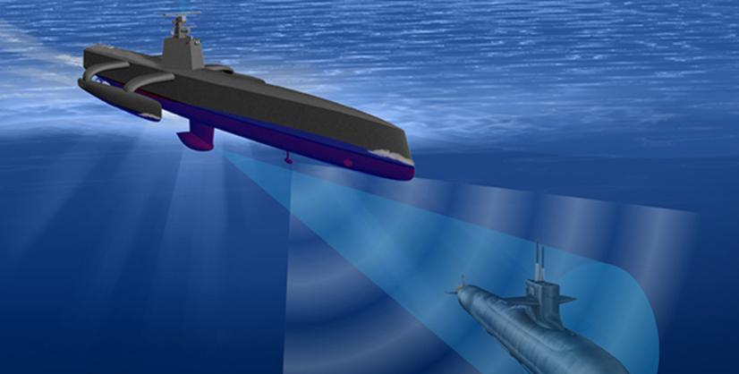 DARPA's ACTUV uncrewed submarine tracker. Image: DARPA
