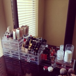 My makeup storage