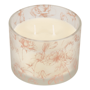 2 wick rose gold candle