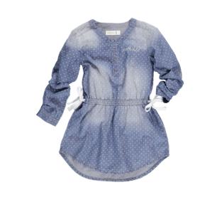 Denim, Spot Print Dress R380