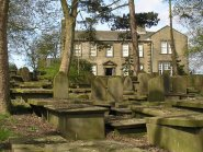 The cemetery behind the Bronte house image