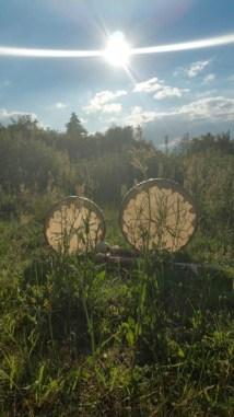 Rahmentrommel aus Hirschleder