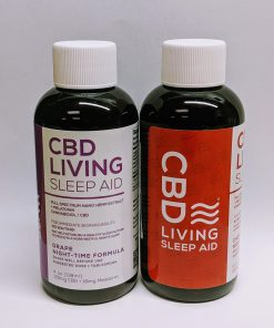 CBD Living - Sleep Aid with Melatonin. Grape & Cherry Flavored. CBD living near me. CBD near me.