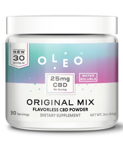Oleo Unflavored CBD Drink Mix. Prefect for mixing your daily dose of CBD into something simple.