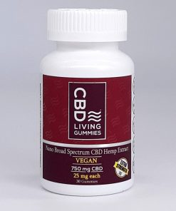 CBD Living - Gummy Bears **Very Convenient** 25mg per gummy - Vegan. Extra Strength