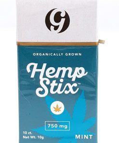 Gold Standard Hemp Stix- 10 Pack. 750mg Mint