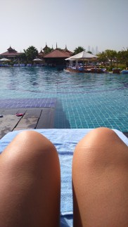 The view of the pool from my knees.