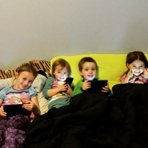 Sleep-over fun! #Cousins #TechKids