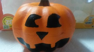painted pumpkin for kids