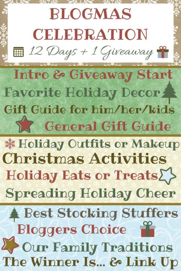 Bloggers celebrate Christmas in our own special way--with 12 Days of Blogmas! Tune in daily and check out our holiday themed posts & enter the giveaway!