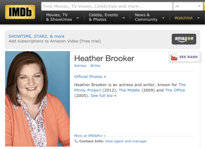 imdb pro known for