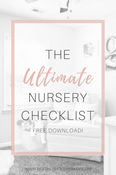 ultimate nursery checklist