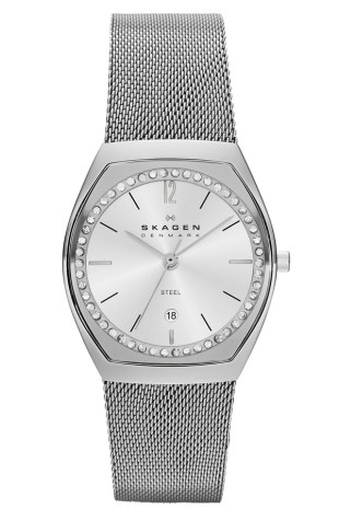 Skagen 'Asta' Slim Barrel Mesh Strap Watch, 28mm ($108.75)