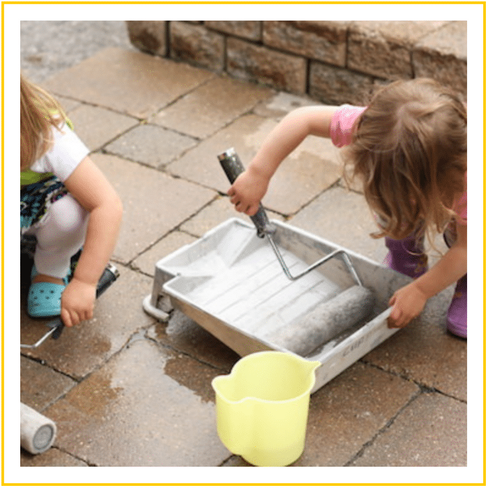PAINTING WITH WATER -20 OF THE BEST SUMMER ACTIVITIES FOR TODDLERS