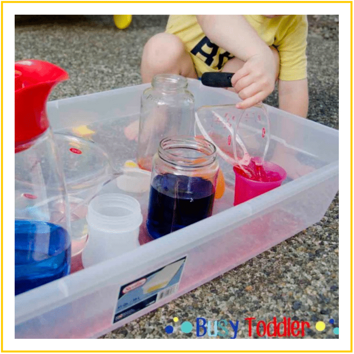 POURING STATION -20 OF THE BEST SUMMER ACTIVITIES FOR TODDLERS