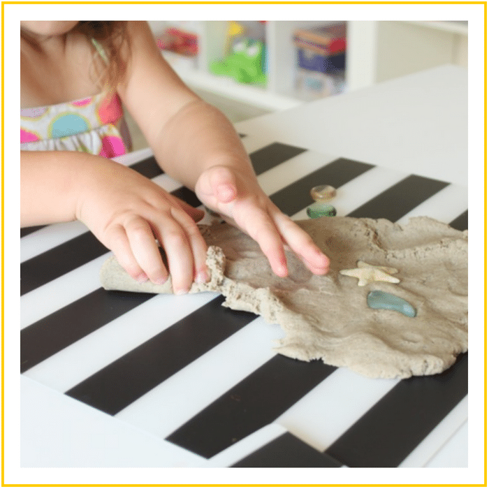 SAND PLAY DOUGH-20 OF THE BEST SUMMER ACTIVITIES FOR TODDLERS