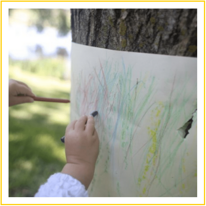TREE BARK RUBBINGS-20 OF THE BEST SUMMER ACTIVITIES FOR TODDLERS