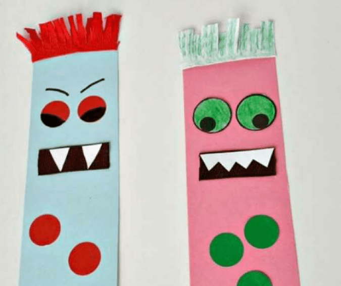 Monster Bookmark - Halloween Crafts for Toddlers