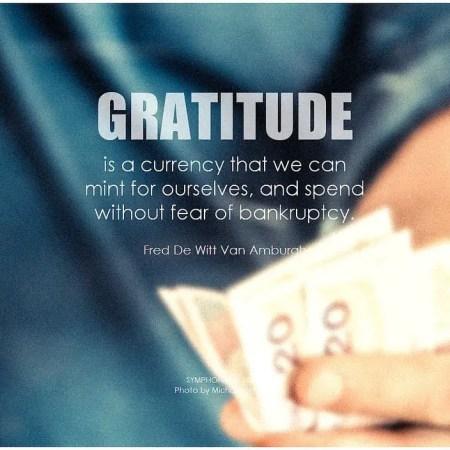 gratitude for health