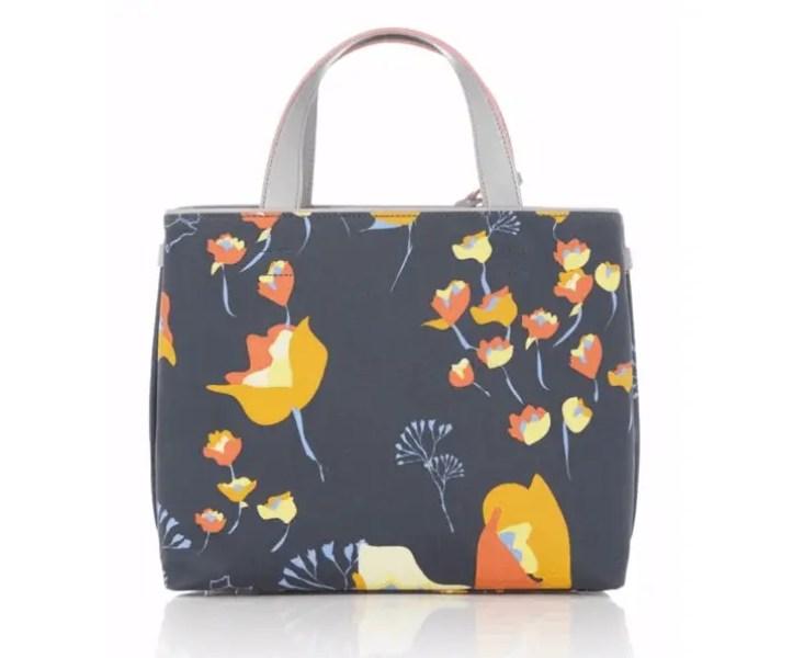 Floral patterned tote bag