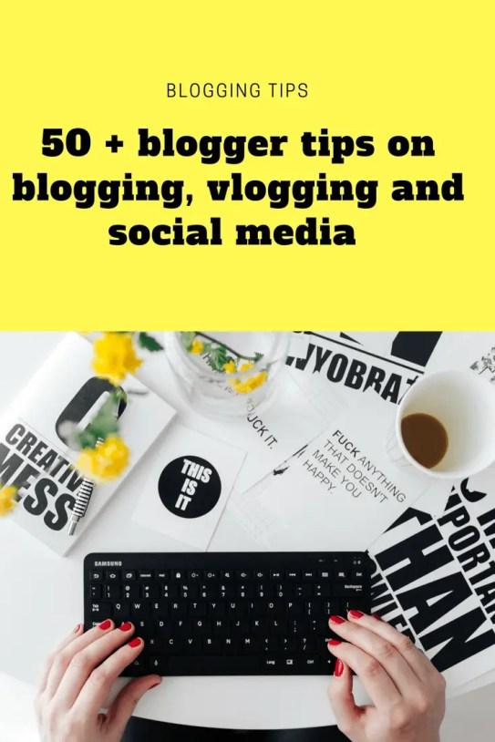 50 + blogger tips on blogging, vlogging and social media from #BML17