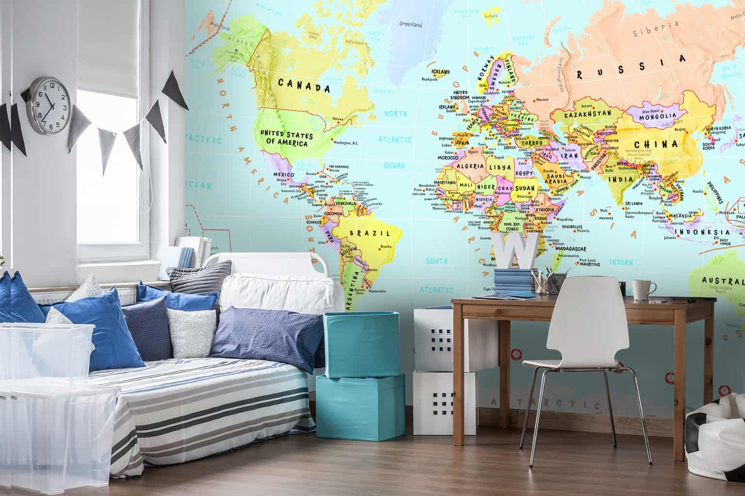 5 wonderful childrens wall murals to teach them about the world childrens wall murals gumiabroncs Images