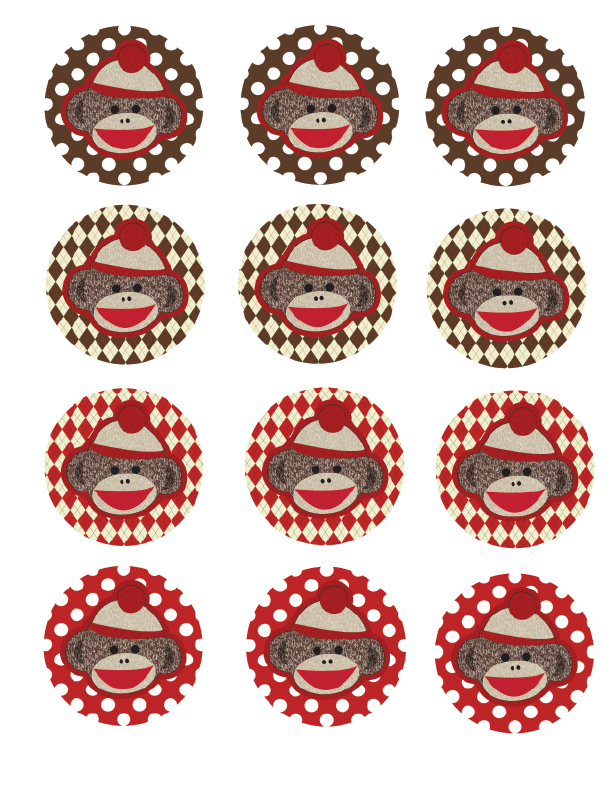 FREE Sock Monkey Printable Decorations for Baby Shower or Birthday