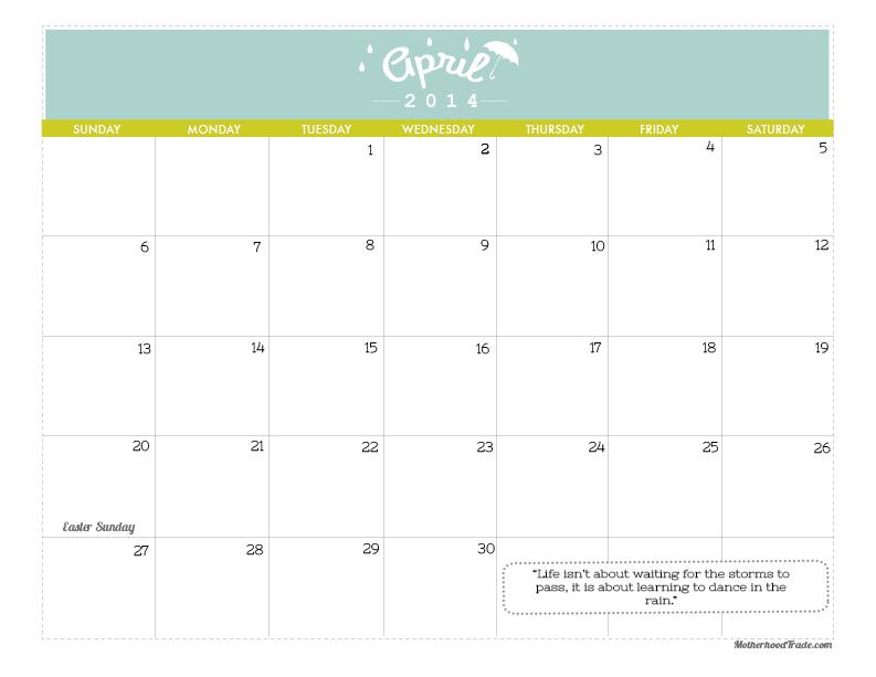 2014 calendars_April-2014