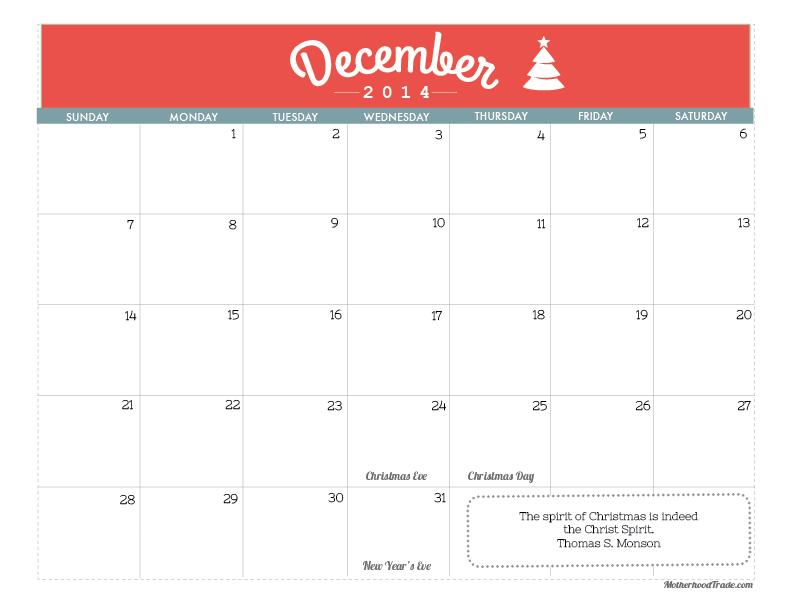 calendars_December 2014