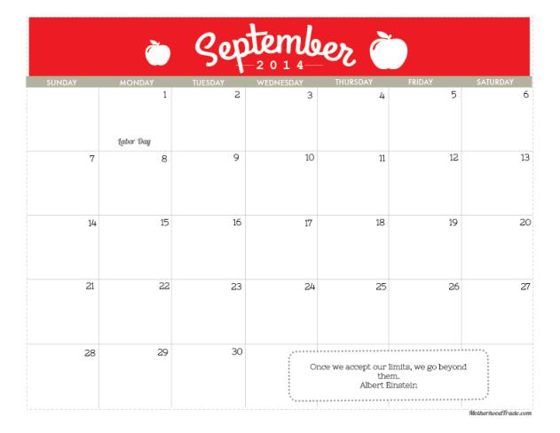 calendars_September 2014
