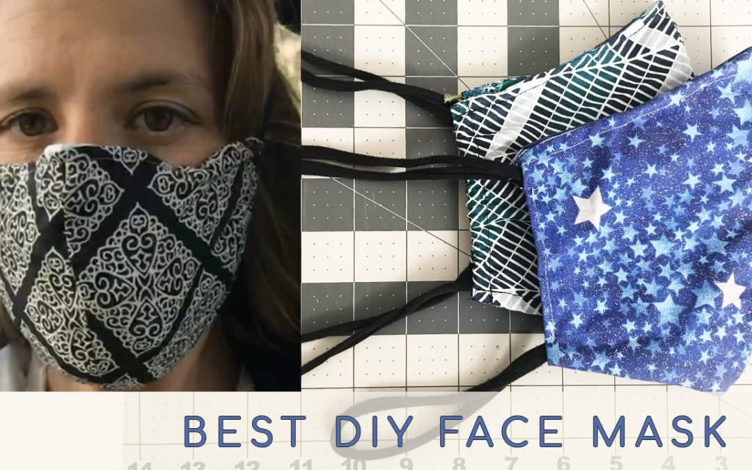 The Best Face mask with filter pocket, non elastic adjustable ties and nose support.