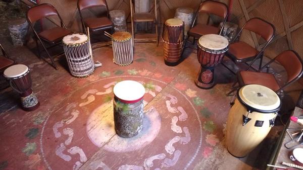 Motherhouse drum circle