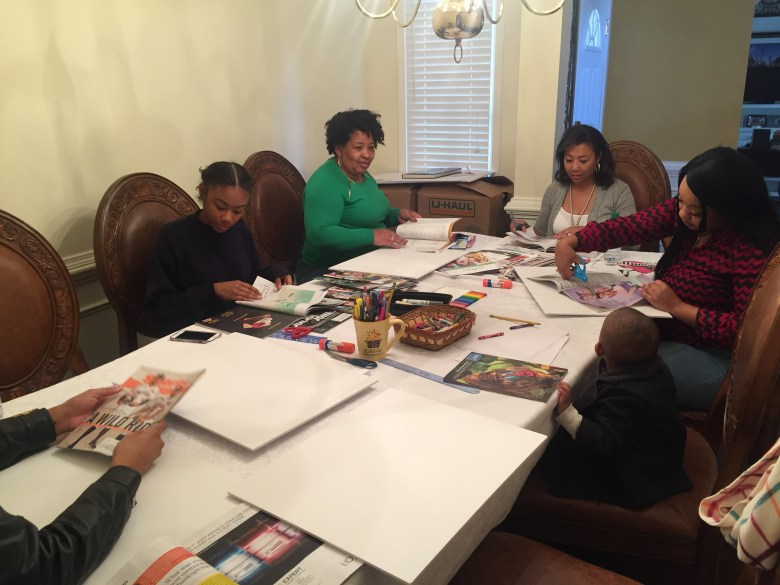 Family Vision Board Party