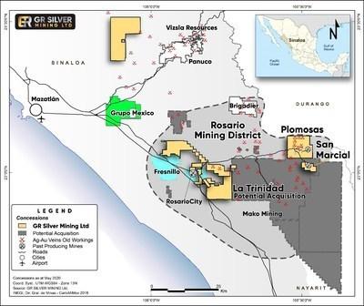 GRSL.V, silver, Mexico, gold