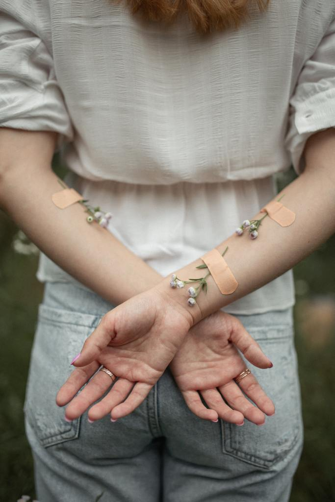 Putting bandages on the skin where a teen usually cuts can incite the same feelings as the self harming behavior, without the danger