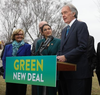 AOC Green New Deal rollout